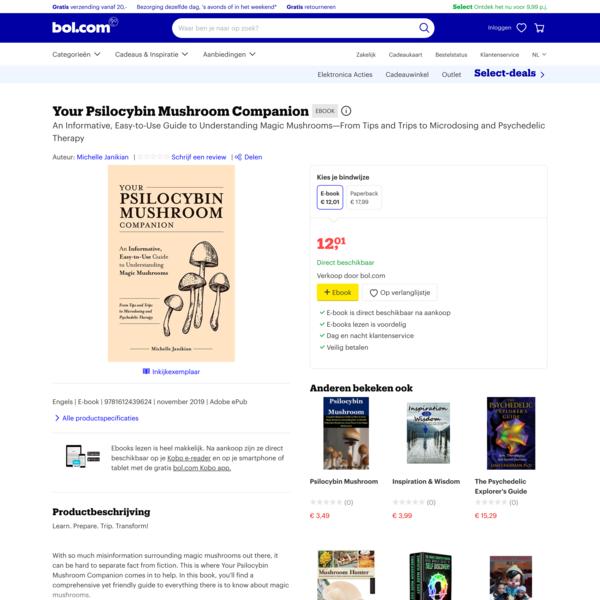 bol.com | Your Psilocybin Mushroom Companion (ebook), Michelle Janikian | 9781612439624 | Boeken