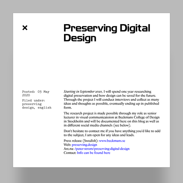 haraldpeter | Preserving Digital Design