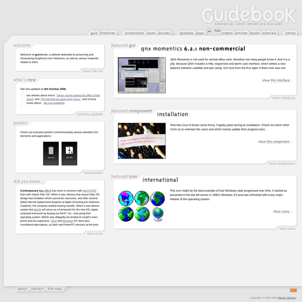 GUIdebook: Graphical User Interface gallery