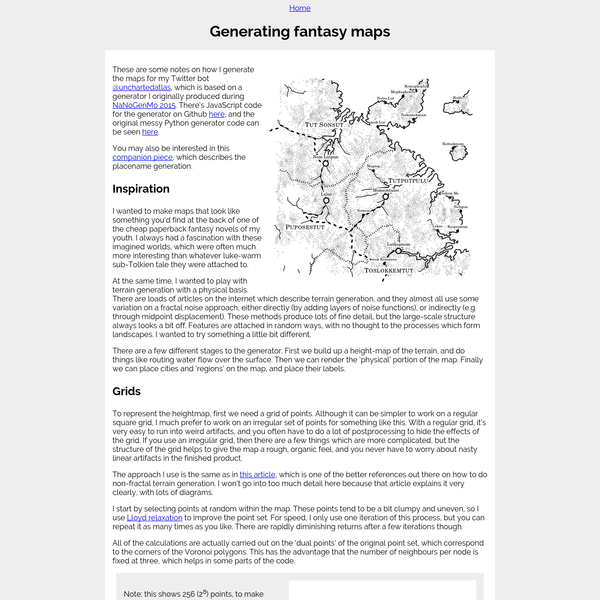 Generating fantasy maps