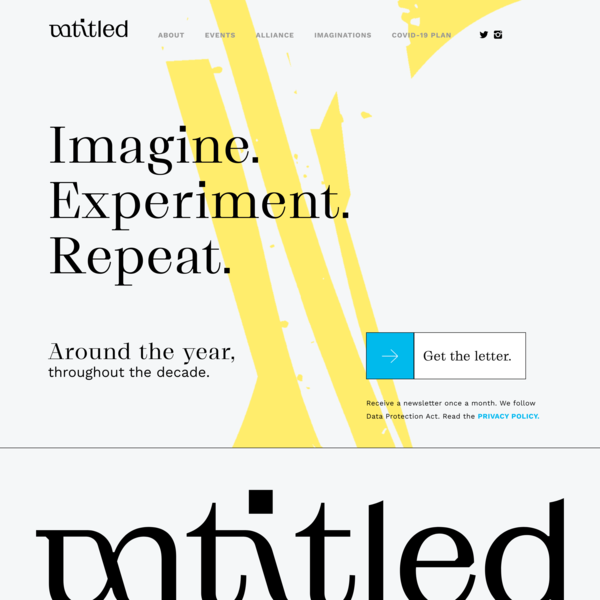 UNTITLED – Imagine. Experiment. Repeat.