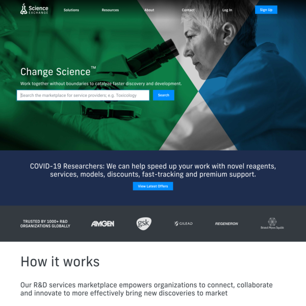 Science Exchange - World's leading R&D services marketplace