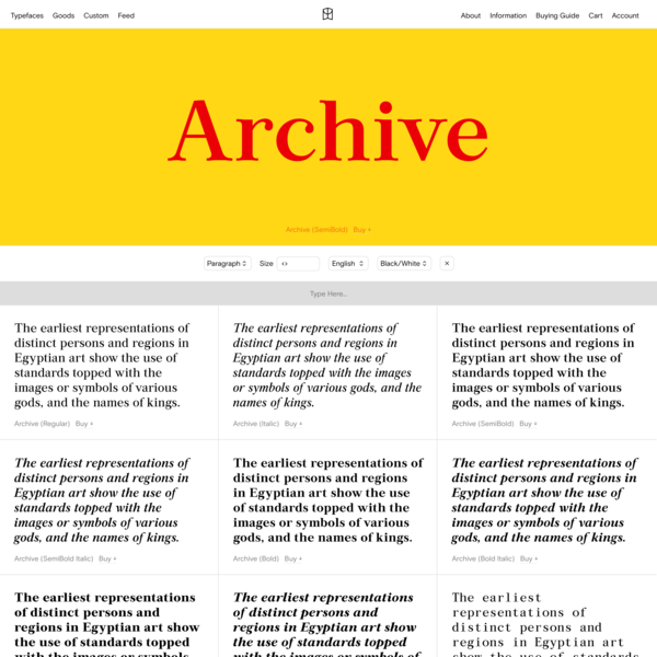 Archive — Colophon Foundry