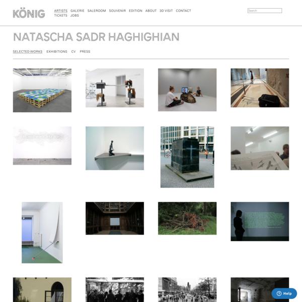 Works | Natascha Sadr Haghighian | König Galerie