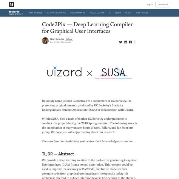 Code2Pix - Deep Learning Compiler for Graphical User Interfaces