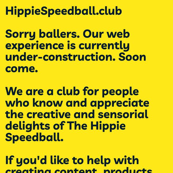 Hippie Speedball Club - @HPPYSPDBLLCLB