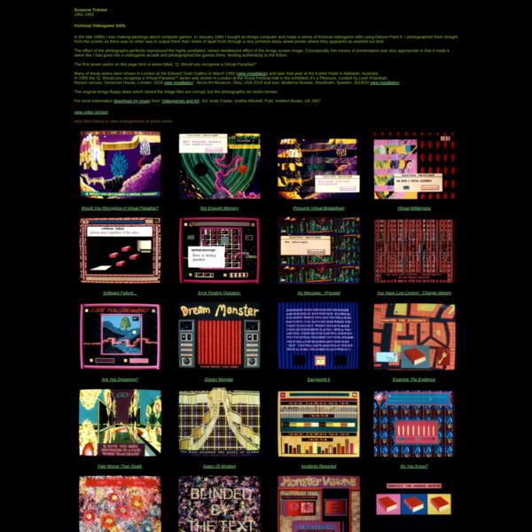 Suzanne Treister - Amiga Videogame Stills - menu