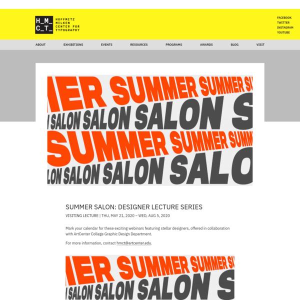 Summer Salon: Designer Lecture Series