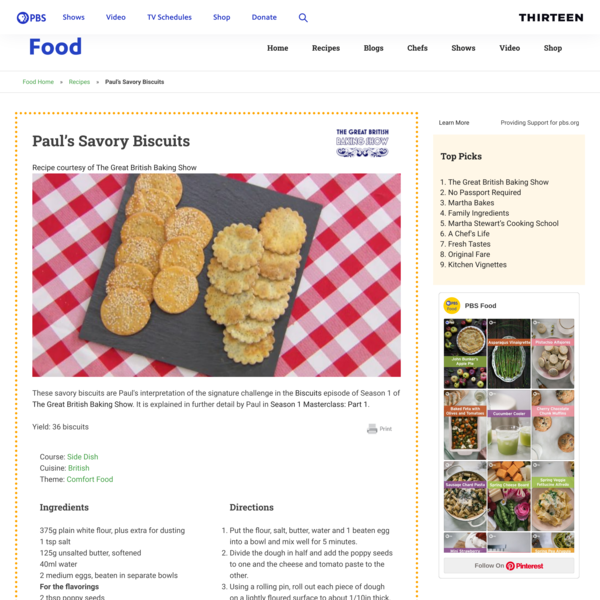Paul's Savory Biscuits Recipe | PBS Food