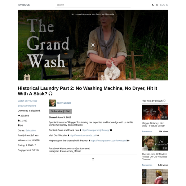 Historical Laundry Part 2: No Washing Machine, No Dryer, Hit It With A Stick?