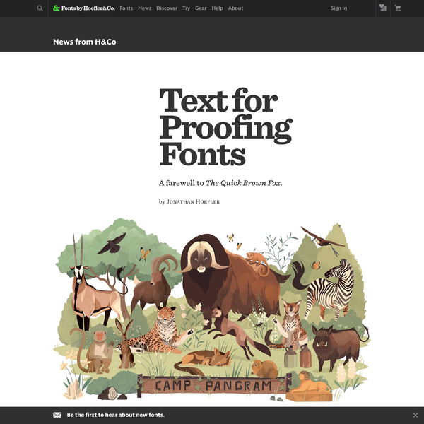 Text for Proofing Fonts | Fonts by Hoefler&Co.