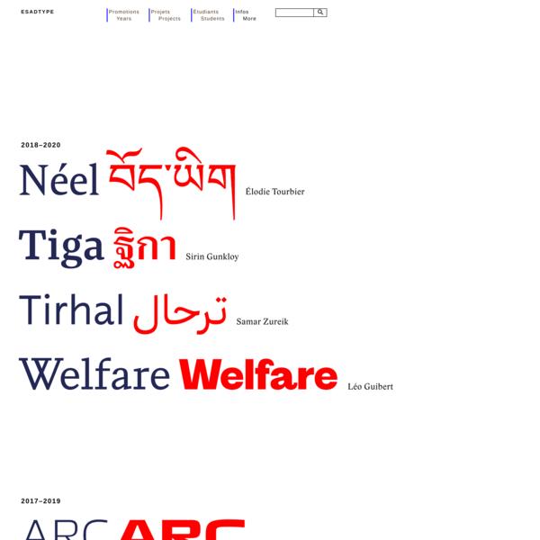 Post-diplôme «Typographie & Langage»