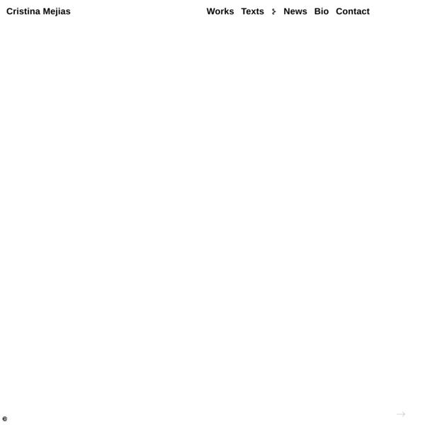 tro,tro – Cristina Mejias