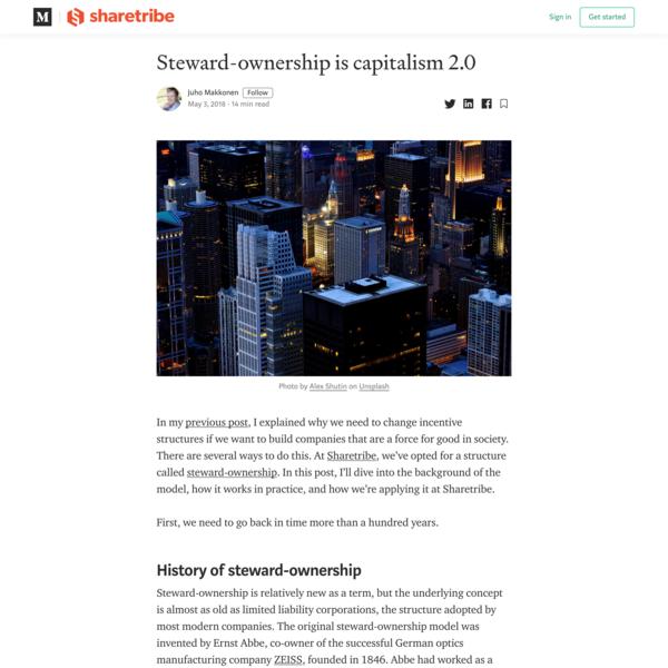 Steward-ownership is capitalism 2.0