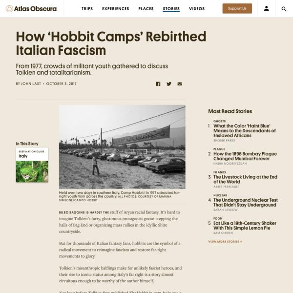 How 'Hobbit Camps' Rebirthed Italian Fascism