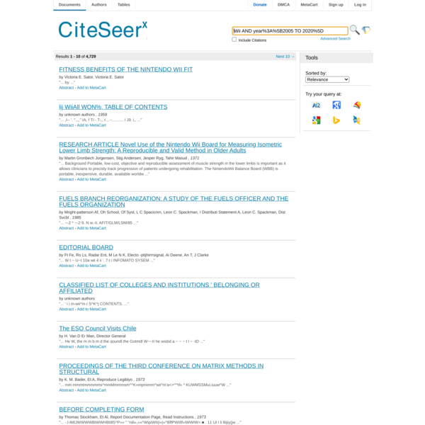 CiteSeerX — Search Results — Wii AND year%3A%5B2005 TO 2020%5D