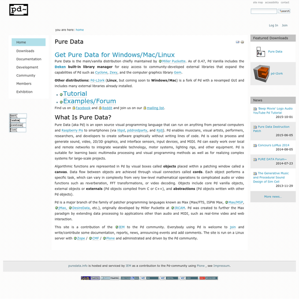 Pure Data - Pd Community Site
