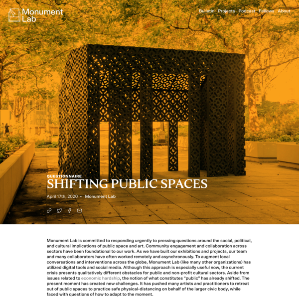 Shifting Public Spaces - Monument Lab