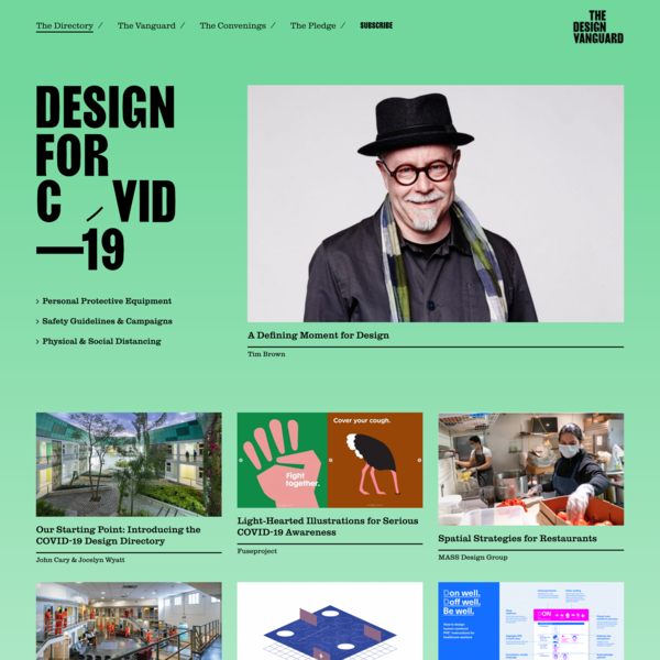 COVID-19 Design Directory - The Design Vanguard