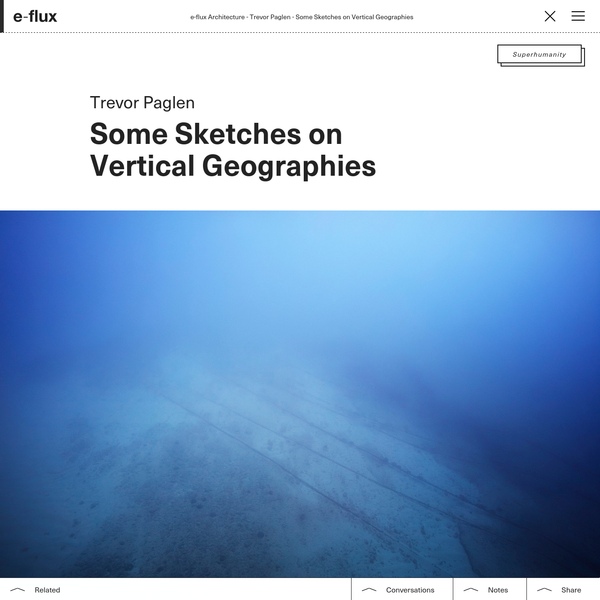 Some Sketches on Vertical Geographies