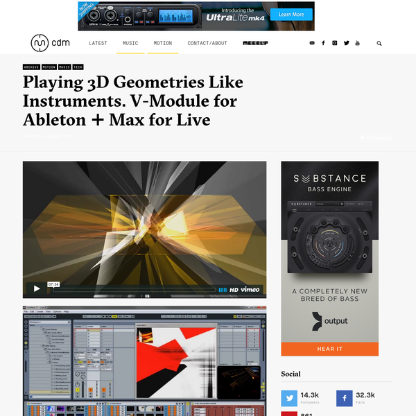 Playing 3D Geometries Like Instruments: V-Module for Ableton + Max for Live