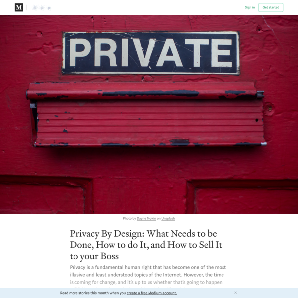 Privacy By Design: What Changes are Necessary, How To Do It, and How To Sell your Boss