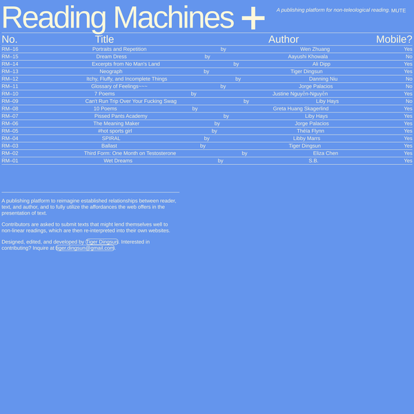 Reading Machines by Tiger Dingsun