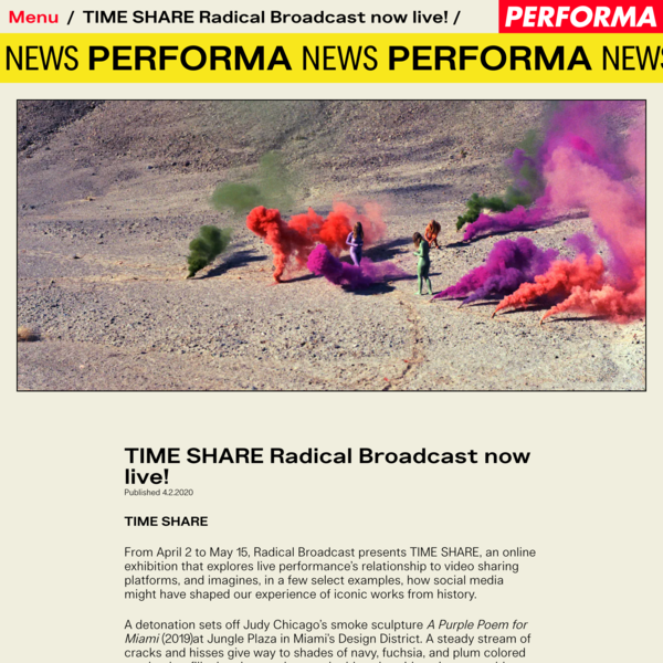 TIME SHARE Radical Broadcast now live!