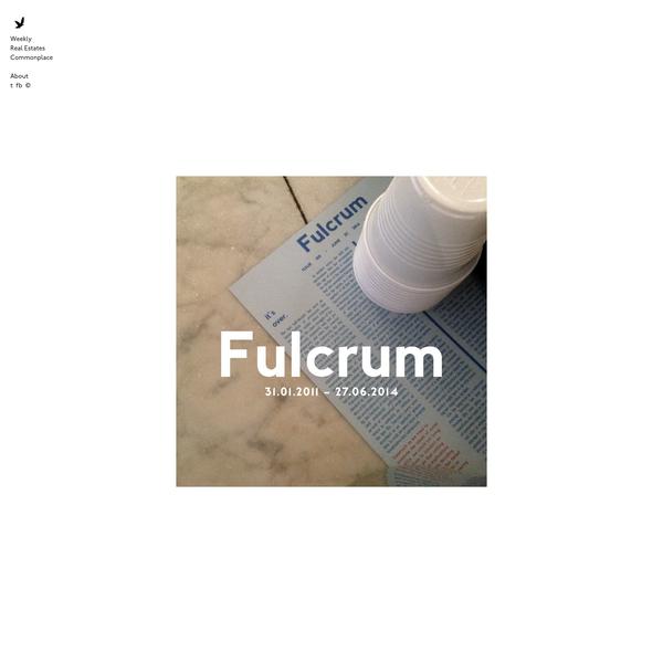 Fulcrum | Pursuing Architecture and the Third Millennium