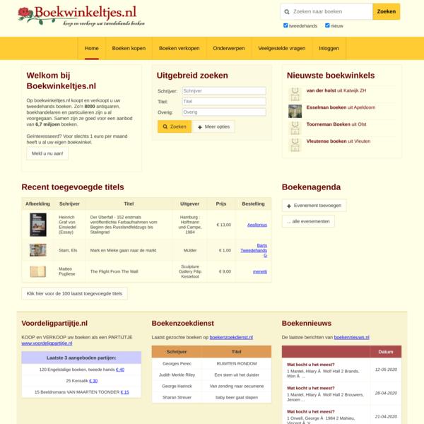 Boekwinkeltjes.nl - Koop en verkoop uw tweedehands boeken