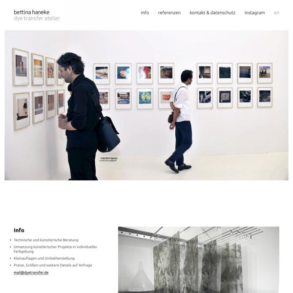 Bettina Haneke – Dye Transfer Atelier