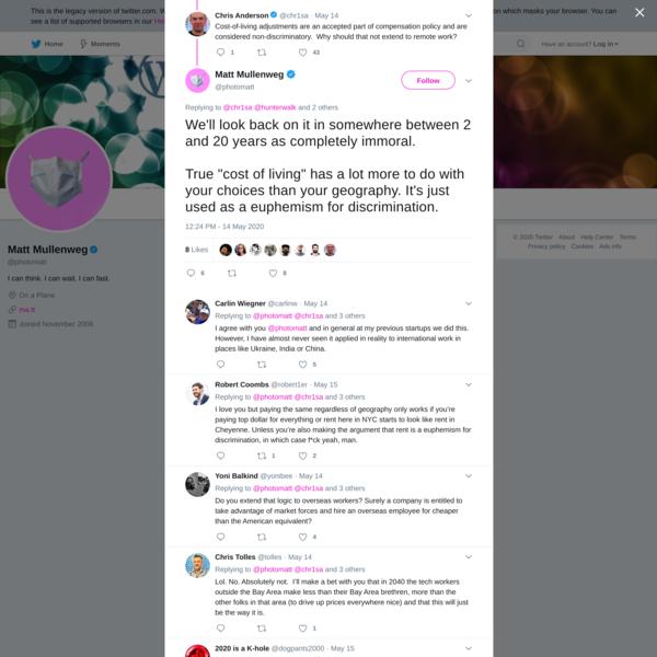 Matt Mullenweg on Twitter