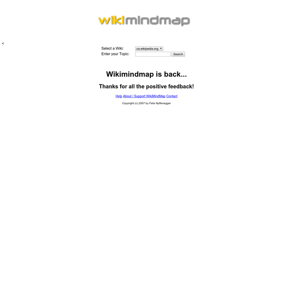 WikiMindMap is a tool to browse easily and efficiently in Wiki content, inspired by the mindmap technique
