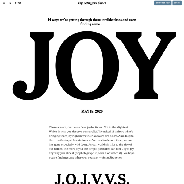 14 Ways We're Finding Joy (in Spite of Everything)