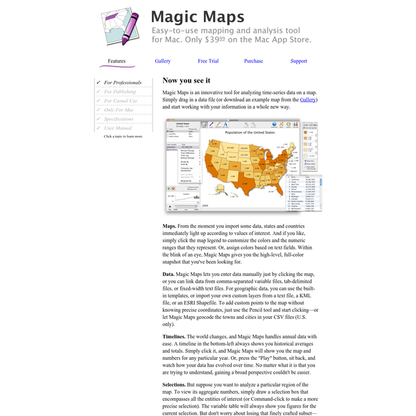 Easy-to-use mapping and analysis tool for Mac.