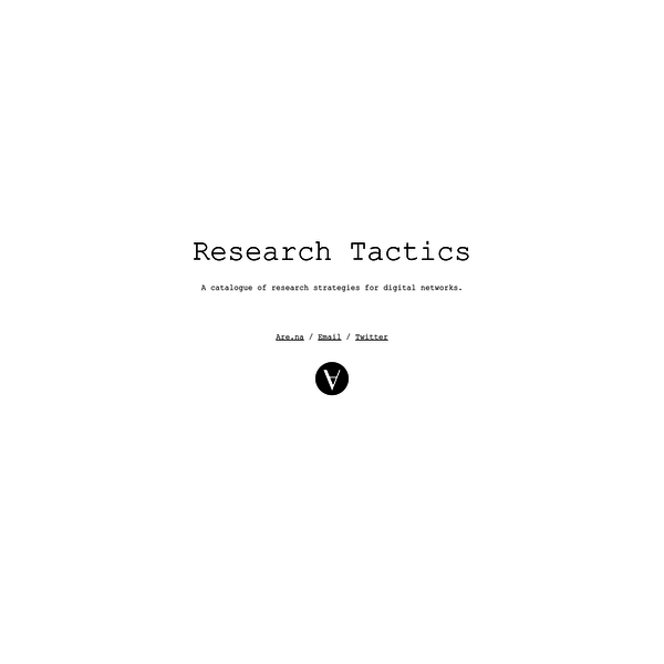 A catalogue of research strategies for digital networks.