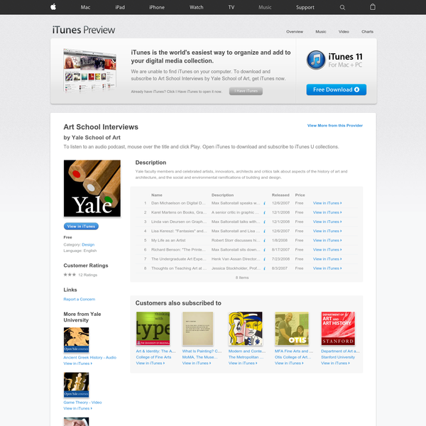 Download or subscribe to the free podcast Art School Interviews by Yale University.