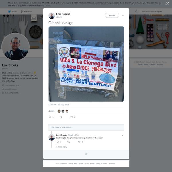 Levi Brooks on Twitter
