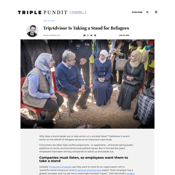 TripAdvisor Is Taking a Stand for Refugees