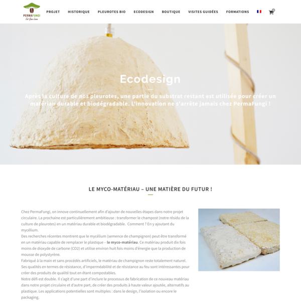 LumiFungi - luminaire à base de champignon   PermaFungi