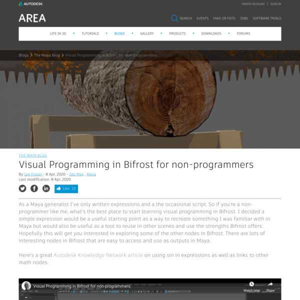 Visual Programming in Bifrost for non-programmers | The Maya Blog | AREA by Autodesk