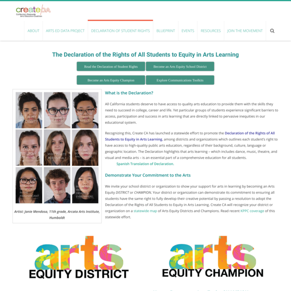 Declaration of Student Rights – new | createCA