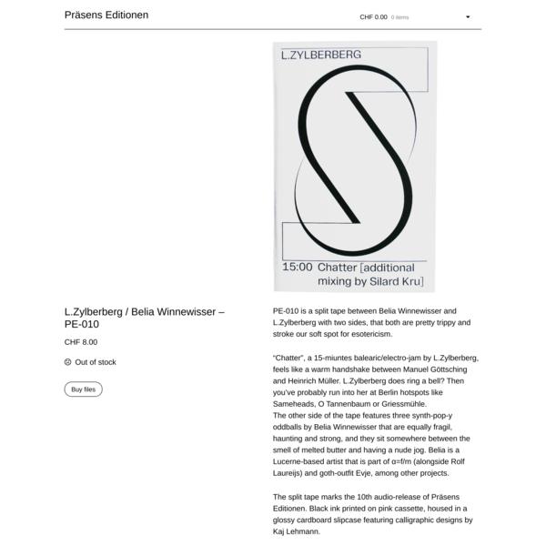 L.Zylberberg / Belia Winnewisser – PE-010 – Präsens Editionen