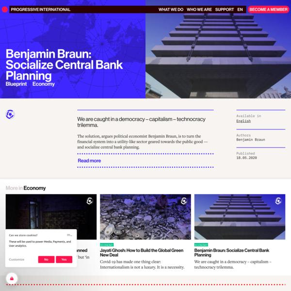Benjamin Braun: Socialize Central Bank Planning