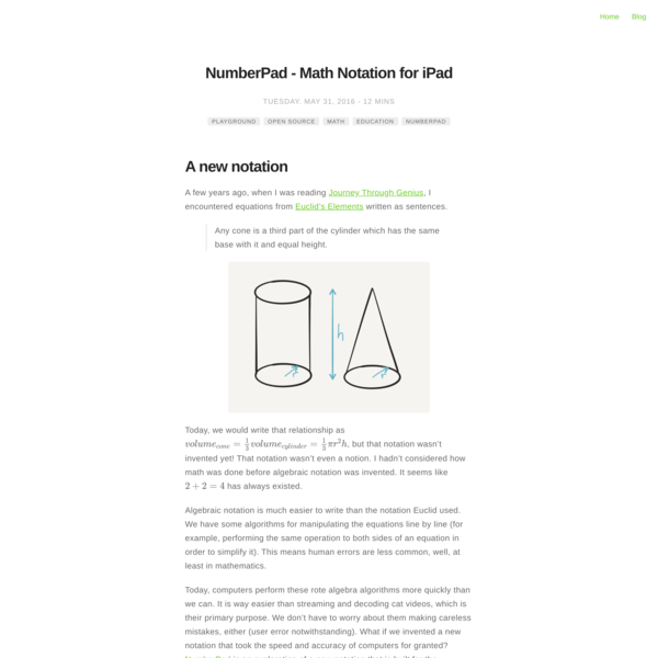 NumberPad - Math Notation for iPad