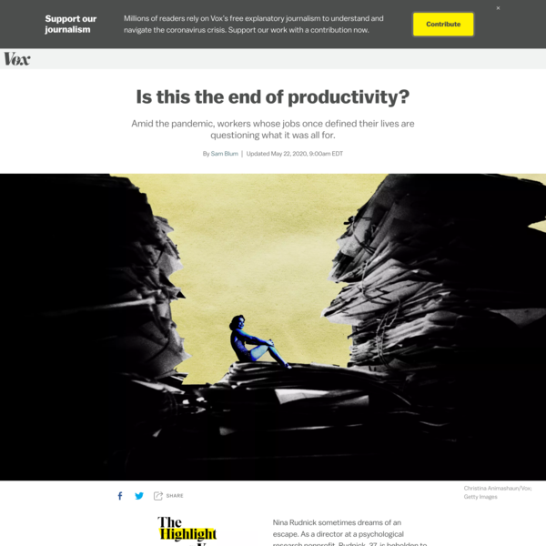 Is this the end of productivity?