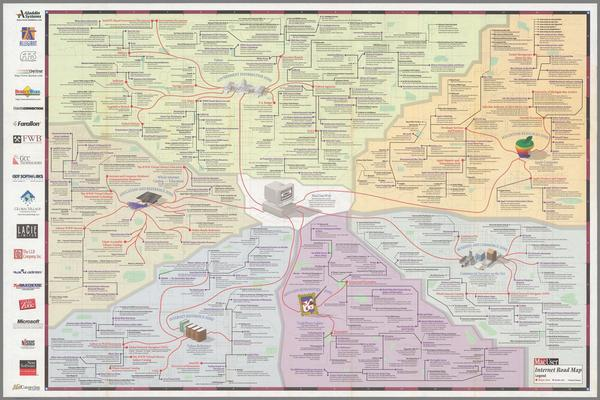 MacUser Internet Road Map, 1996.© David Rumsey Map Collection