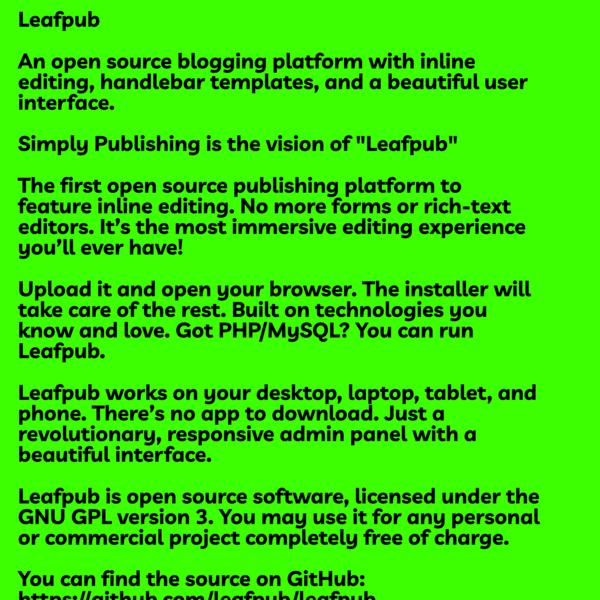 LeafPub