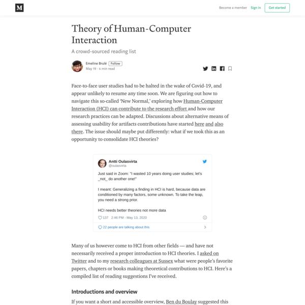 Theory of Human-Computer Interaction