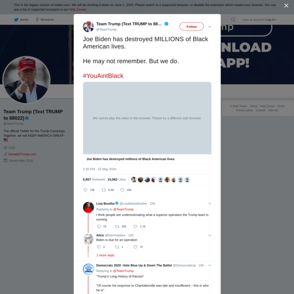 Team Trump (Text TRUMP to 88022) on Twitter